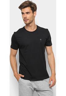 Camiseta T-Shirt Ellus Manga Curta Masculina - Masculino-Preto