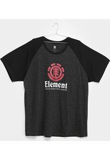 Camiseta Plus Size Element Vertical Raglan Masculina - Masculino
