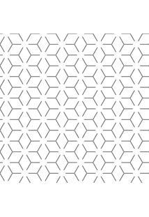 Papel De Parede Adesivo Linhas Cubos (0,58M X 2,50M)