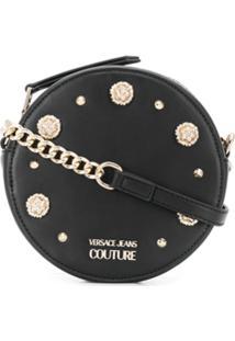 Versace Jeans Couture Bolsa Transversal Com Aplicações - Preto