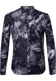 Camisa John John Chalk Flowers Masculina (Estampado, Pp)