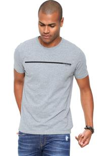 Camiseta Calvin Klein Jeans Ckj Estampada Cinza