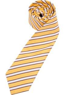 Gravata Amarela Estampada - Uni
