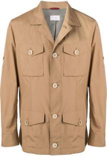 Brunello Cucinelli Buttoned Safari Jacket - Neutro
