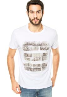 Camiseta Iódice Denim Placas Branca