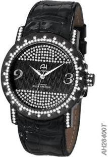 Relógio Feminino Ana Hickmann Ah28400T - Feminino-Preto+Prata