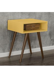 Mesa De Canto Retrô Rt 3025 Amarelo - Movel Bento