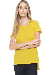 Camiseta Calvin Klein Jeans Recorte Amarela