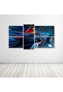 Quadro Decorativo - Formula 1 Red Bull Rb4 Race Car - Composto De 5 Quadros - Multicolorido - Dafiti