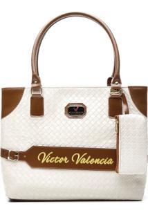 Bolsa Victor Valencia V34 - Feminino-Off White