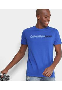 Camiseta Calvin Klein Slim Estampada Masculina - Masculino
