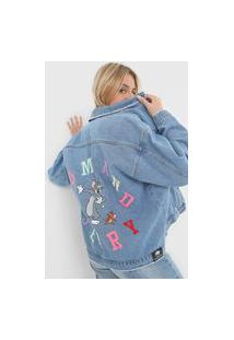Jaqueta Jeans My Favorite Thing(S) Tom And Jerry Azul