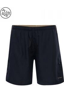 Shorts Plus Size Marinho Relax