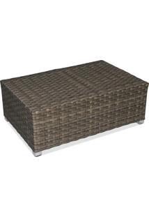 Mesa De Centro Carajás Para Área Externa Fibra Sintética Estrutura Alumínio Eco Friendly Design Scaburi