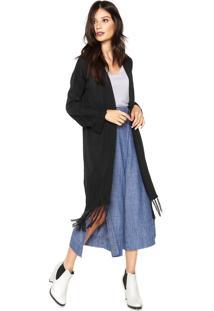 Kimono Tricot Colcci Loose Preto