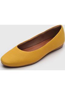 Sapatilha Usaflex Texturizada Amarela