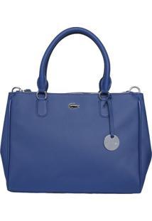 Bolsa Texturizada Com Tag - Azul Escuro - 26X33X12Cmlacoste