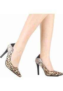 Sapato Scarpin Via Marte Bico Fino 19-9555