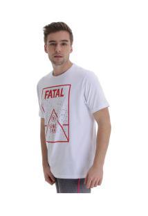 Camiseta Fatal Estampada 20568 - Masculina - Branco