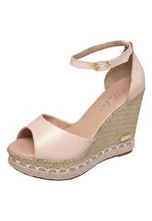 Sandália Sb Shoes Anabela Ref.3200 Nude