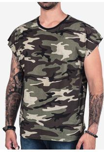 Camiseta Oversized Sleeveless Camuflada 102348