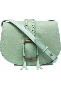 Ba&Sh Lizard-Skin Effect Crossbody Bag - Verde
