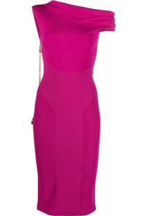 Az Factory Vestido Mybody Com Torção Assimétrica - Rosa