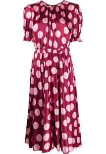 Dolce & Gabbana Vestido Com Estampa De Poás - Rosa
