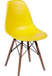 Cadeira Em Mdp/Mdf Base Escura 1102-Or Design - Amarelo
