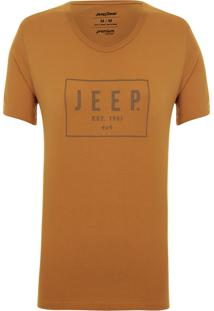 Camiseta Jeep Box Caramelo