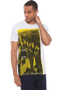 Camiseta Calvin Klein Jeans Raglan Branca
