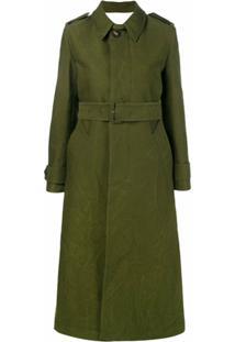 Ami Trench Coat Clássico - Verde