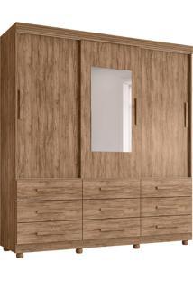 Guarda-Roupa Casal Com Espelho Ascoli 3 Pt 9 Gv Carvalho