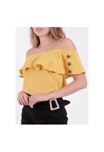 Blusa Ciganinha Feminina Amarelo