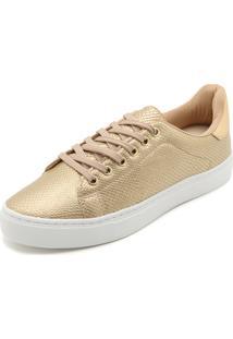 Tênis Dafiti Shoes Cobra Dourado