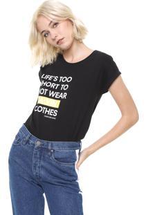 Blusa Calvin Klein Jeans Life Preta