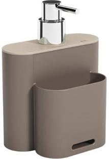 Dispenser Flat 500Ml 9X13X16,5Cm Warm Gray/Light Gray - 17002/3334 - Coza - Coza
