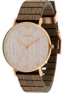 Relógio Wewood Aurora Rose Gold Apricot - Unissex-Marrom