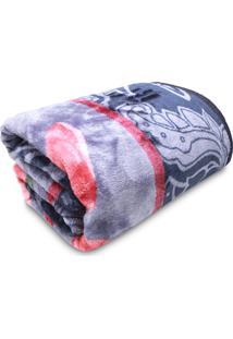Cobertor Casal Jolitex Tradicional Antique Azul