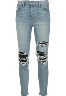 Amiri Calça Jeans Skinny Com Efeito Destroyed - Azul