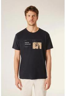 Camiseta Est Linguagem Universal Vj Reserva Masculina - Masculino-Preto