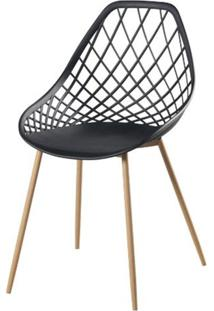 Cadeira Frank Preta Pes Bege - 50067 Sun House