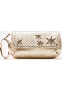 Bolsa Mini Envelope Star Ouro - U
