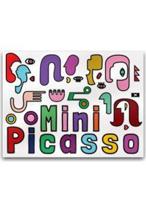 Kit Quadro Com Varal Meu Primeiro Quartinho Picasso Multicolorido