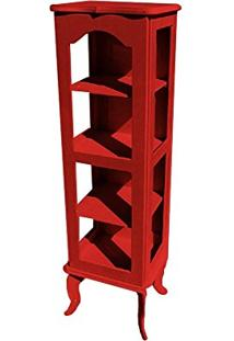Cristaleira Colonial 1 Porta Atz122 - Vermelho