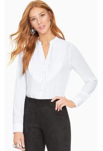 Camisa Branca Com Plissados