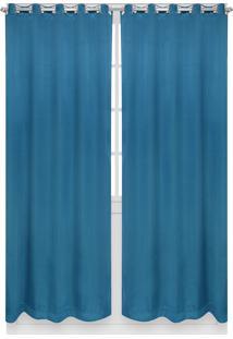 Cortina Santista Berlim Lisa 230X280 Azul