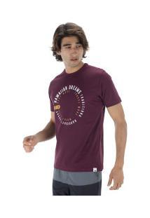 Camiseta Hd Estampada Swirl - Masculina - Vinho
