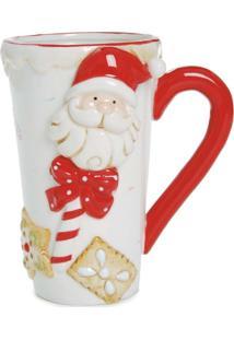 Caneca Chã¡ Cafã© Papai Noel Natal Vermelho - Vermelho - Dafiti