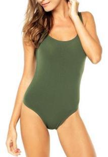 Body Lupo Loba Regata Feminino - Feminino-Verde Escuro